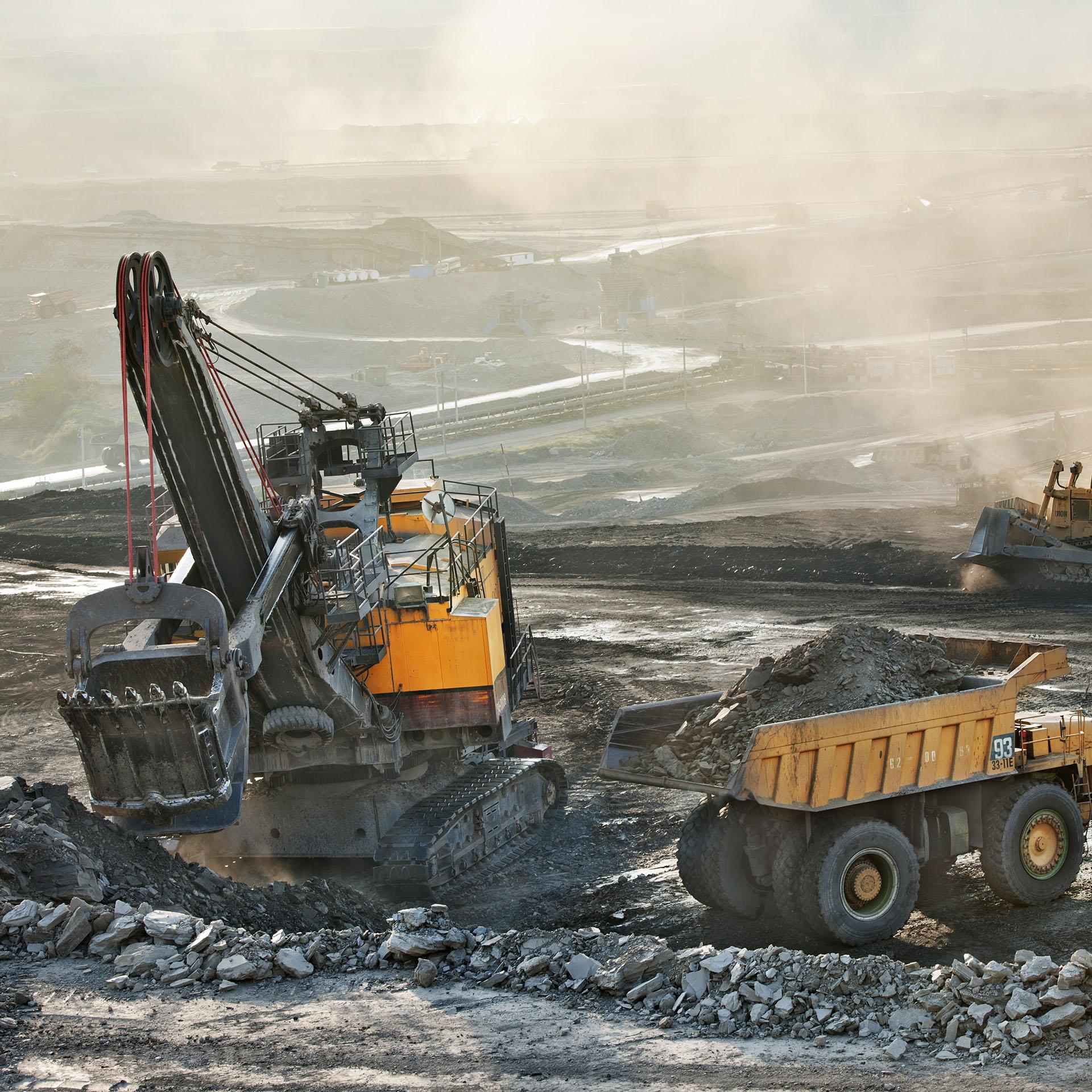 Mining excavation